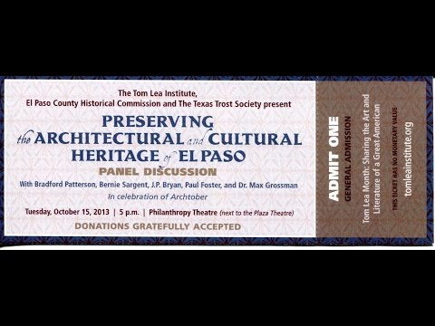 10-15-13 Preserving the Architectural and Cultural Heritage of El Paso
