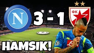 NAPOLI 3-1 STELLA ROSSA | LIVE REACTION HD CURVA B
