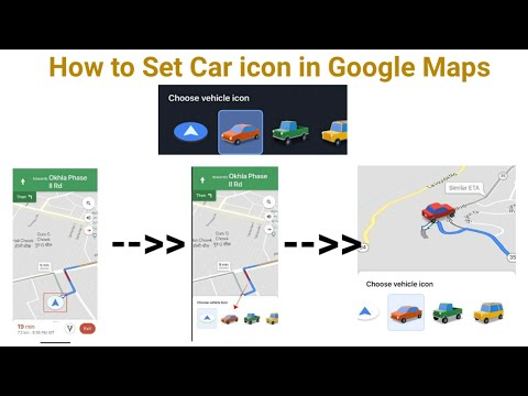 How To Set Car Icon In Google Maps | Google Maps Car Icon | New Feature In Google Maps