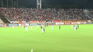 2018.8.19 名古屋グランパス対サガン鳥栖の試合の試合終了間際です!