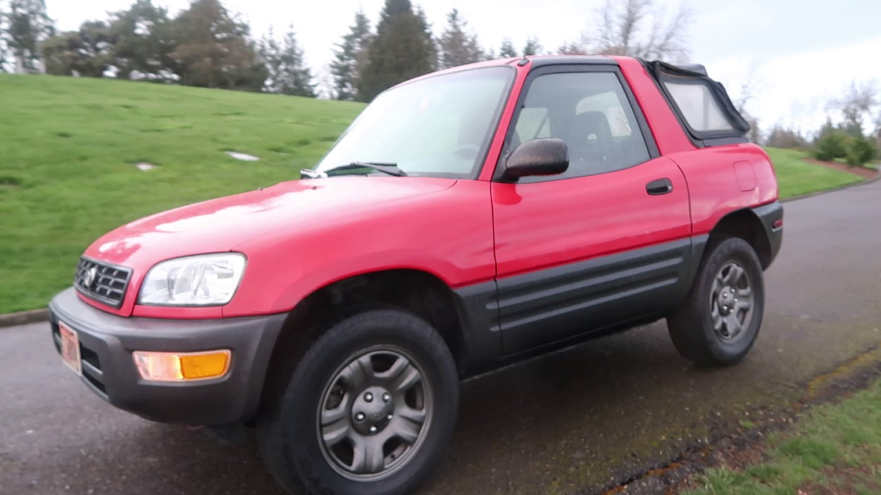 1998 Toyota Rav4 2 Door Convertible Automatic Youtube
