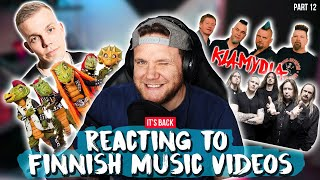 REACTING TO FINNISH MUSIC VIDEOS (it's back!) | Part 12