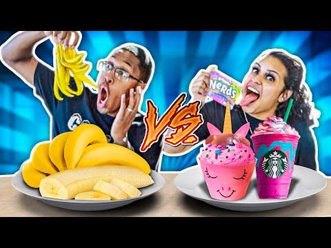 HEALTHY VS JUNK FOOD CHALLENGE!! thumbnail
