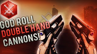Destiny - GOD ROLL DOUBLE HAND CANNONS! Omolon Kumakatok HC4 Best Rolls For Crucible and PvE!