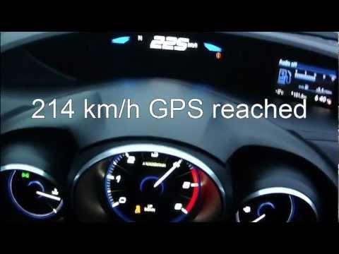 Honda Civic 2013 1,6 i-DTEC - acceleration 0-200 km/h + Vmax test