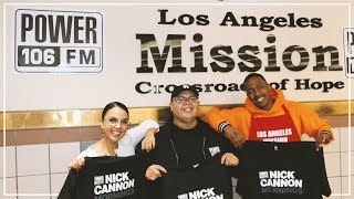 Nick Cannon Morning Show Feeds Homeless At Los Angeles Mission