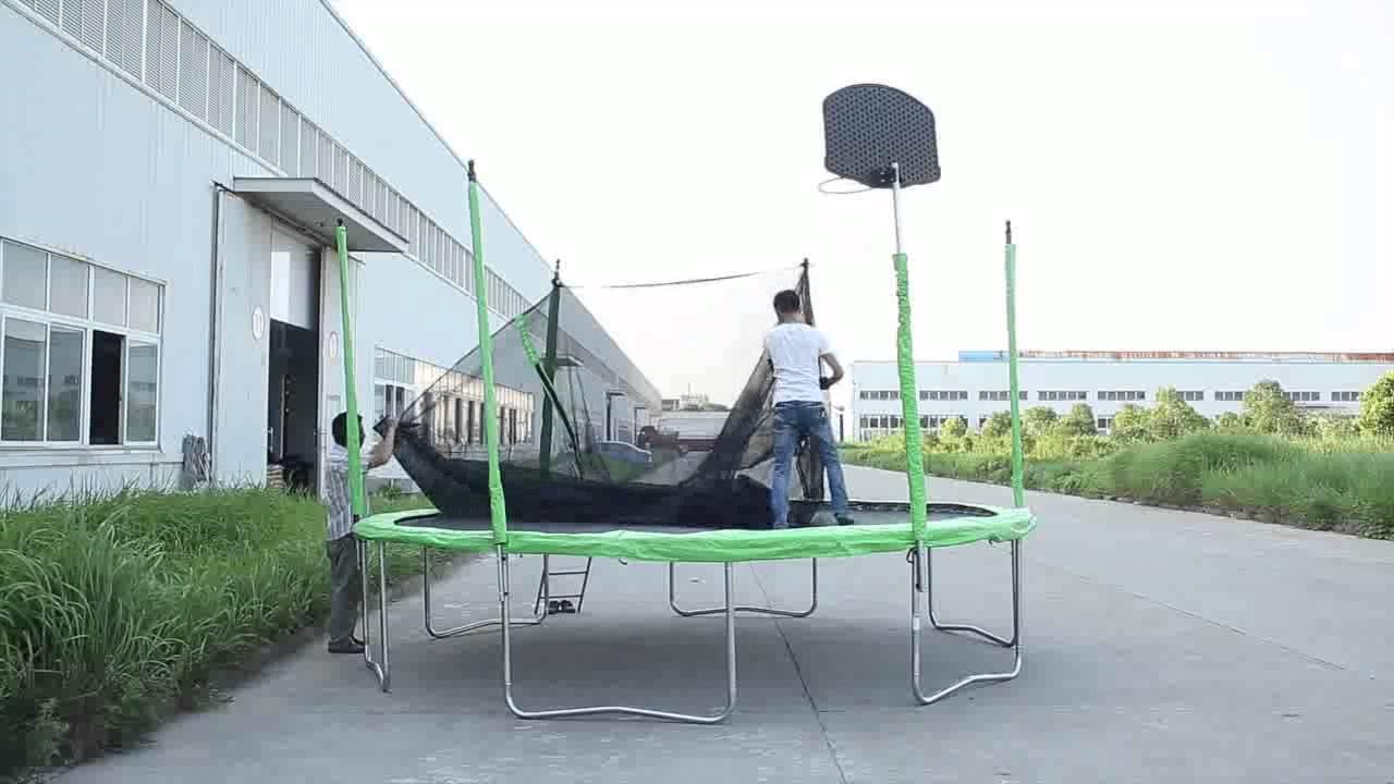 14FT Trampoline Assembly - YouTube