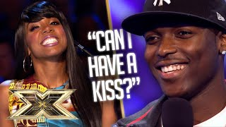 LOVE IS IN THE AIR! Derry catches feelings for Kelly Rowland in CHEEKY audition! | The X Factor UK