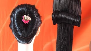3 Minutes Simple Fashion Hairstyles For Girls At Home With Black Long Hair