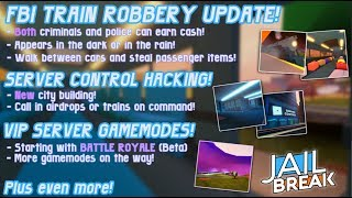 NEW ROBLOX JAILBREAK BATTLE ROYALE UPDATE???!!  New Train Update!!