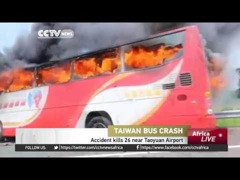 26 killed in Taiwan as tourist bus catches fire