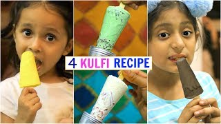 4 Tasty KULFI Recipe - Using 2 Basic Ingredients | #Summers #Kids #Desserts #Healthy #CookWithNisha