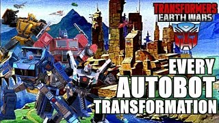 ALL AUTOBOTS TRANSFORMATION - TRANSFORMERS: EARTH WARS