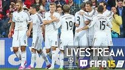 FC SCHALKE 04 0 : 2 REAL MADRID - Champions League | Prognosen [FIFA 15 LIVESTREAM]