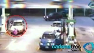 Mujer muere atropellada por conductor ebrio en gasolinera de Cuernavaca