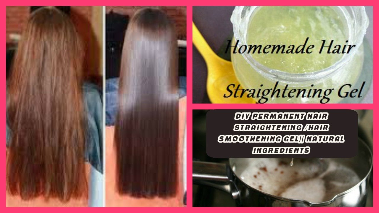 DIY HOMEMADE HAIR STRAIGHTENING / SMOOTHENING GEL|| WITH ALL NATURAL  INGREDIENTS|| 100% WORKING