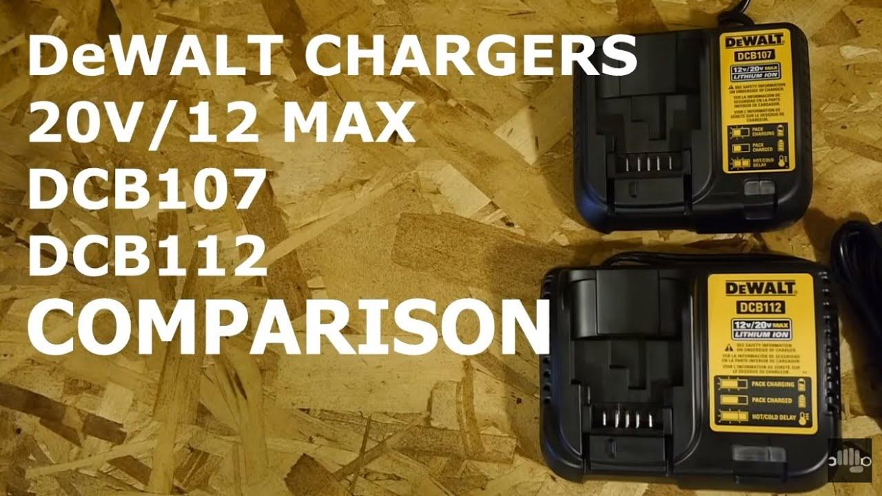 dewalt 20v 12v max dcb107 dcb112 chargers [ 1280 x 720 Pixel ]