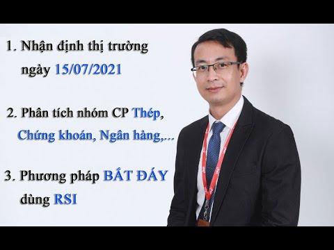 Chứng khoán hàng ngày: Nhận định thị trường ngày 15/07/2021. Phân tích nhóm CP bank, chứng khoán.