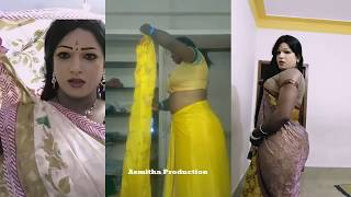 How to wear sari and makeup For crossdresser