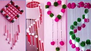 4 amazing  wall hanging ideas \\ room decor ideas \\ woolen craft ideas \ wall decoration