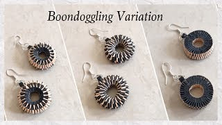 Quilling Paper Weaving/Boondoggling Earrings / DIY / Boondoggling Variation | Priti Sharma
