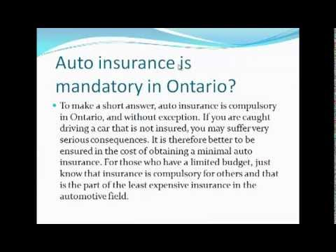 cheapest car insurance in ontario Canada - YouTube