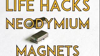 Life Hacks Using Salvaged Neodymium Magnets