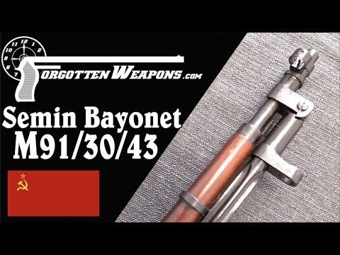 Trials Soviet M91/30/43 Mosin - Semin's Folding Bayonet