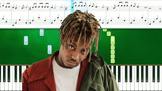 Juice WRLD - Bad Boy ft. Young Thug (Piano Tutorial With Sheets | Piano Instrumental)