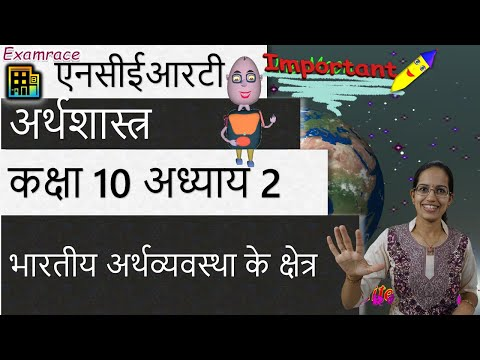 NCERT कक्षा 10 अर्थशास्त्र अध्याय 2: भारतीय अर्थव्यवस्था के क्षेत्र (डॉ मनीषिका) | सीबीएसई