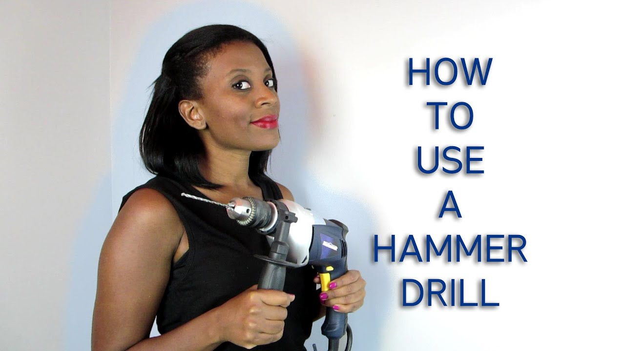 How To Drill Holes Into A Concrete Wall With A Hammer