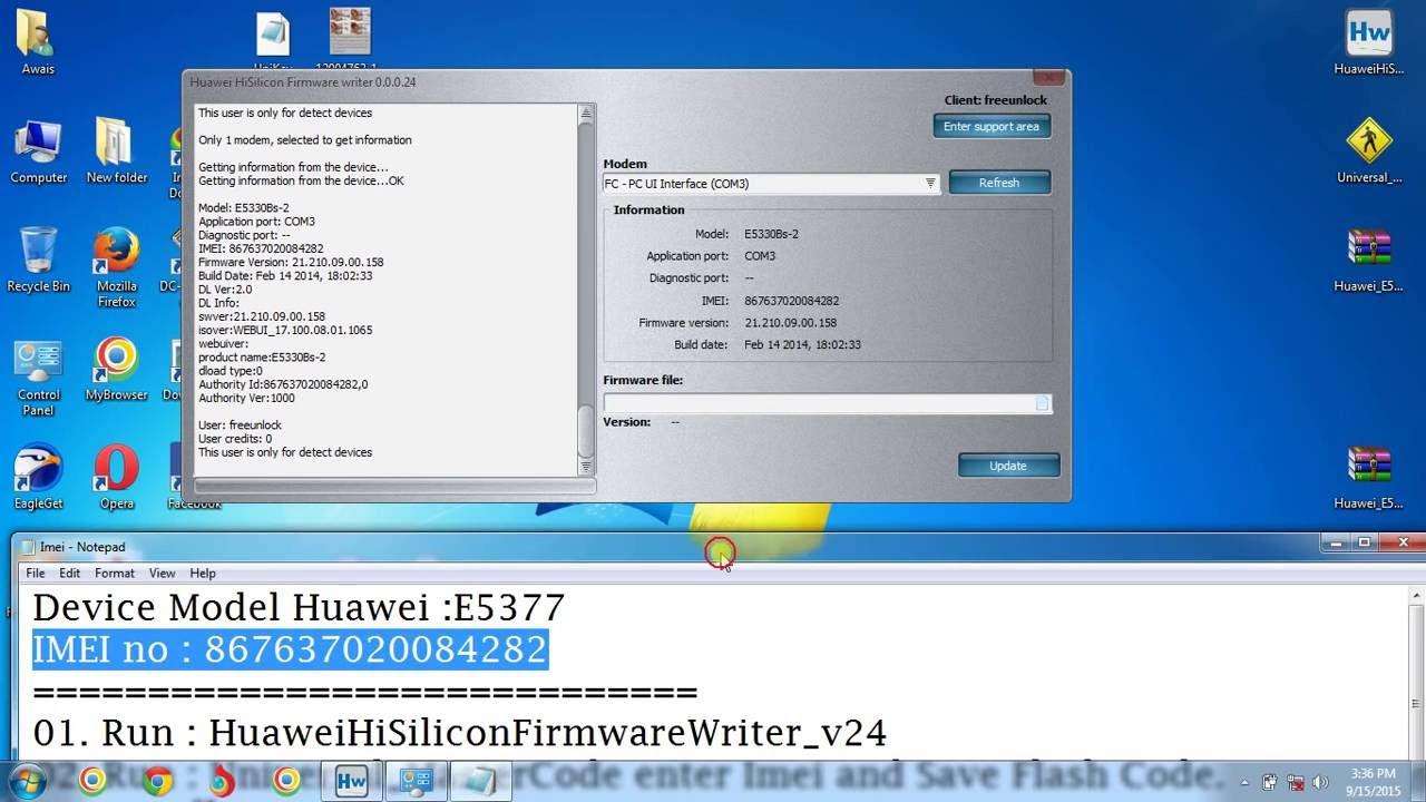 Free unlock any Huawei Device E5330, E5377 Unlock Factory Wifi Device