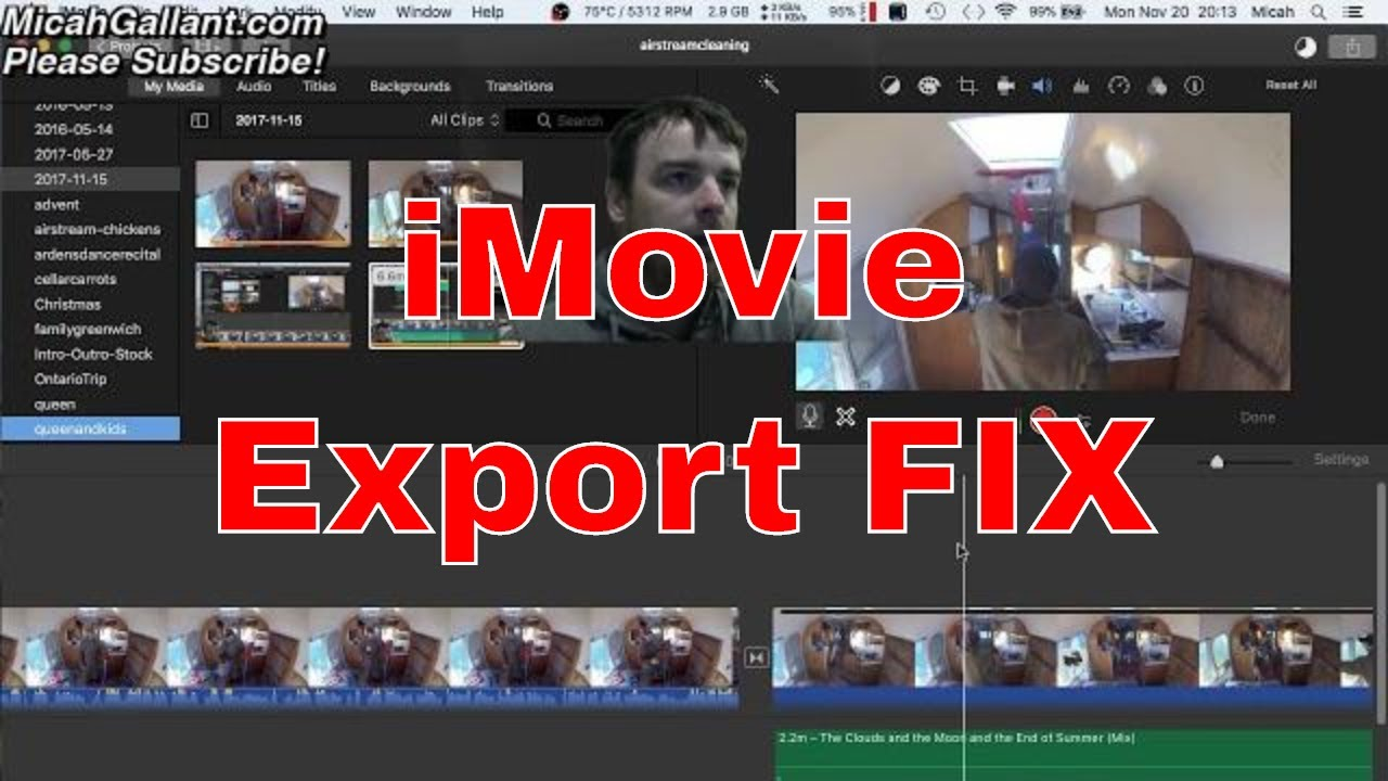 How To Fix iMovie \'video frame error 10004\' - After importing videos ...