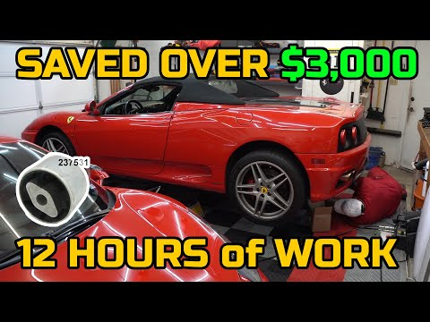 DIY Replacing the Transmission Mount on a Ferrari 360 is a PAIN in the BUTT