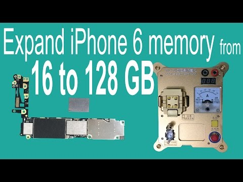 Expand iPhone 6 Memory from 16GB to 128GB by Changing NAND Flash HDD