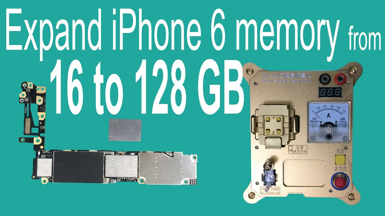 add storage to iphone 6 expand iphone 6 memory from 16gb to 128gb by changing nand 16554