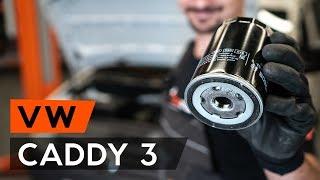 Kā nomainīt Eļļas filtrs VW CADDY III Estate (2KB, 2KJ, 2CB, 2CJ) - tiešsaistes bezmaksas video
