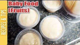 How To Make Baby Food (fruits) (cooking With The290ss)