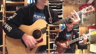 Quelque chose de Tennessee de Johnny Hallyday, cover guitare