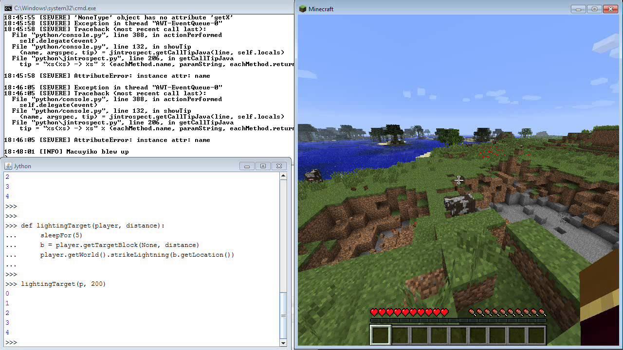 A Bukkit Jython Console Plugin for Minecraft