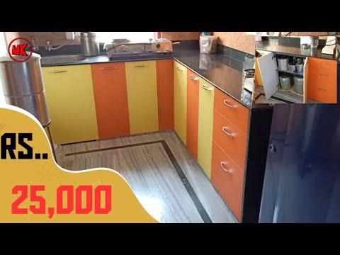 9 2 5 Modular Kitchen Design Cabinet 7 1 5 Yellow And Orange Modular Kitchen Youtube