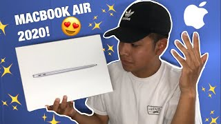 *NEW* MACBOOK AIR 2020 UNBOXING AND SETUP! | FIRST IMPRESSIONS!