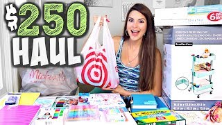 $250 ART SUPPLY HAUL + Channel Updates // SoCraftastic