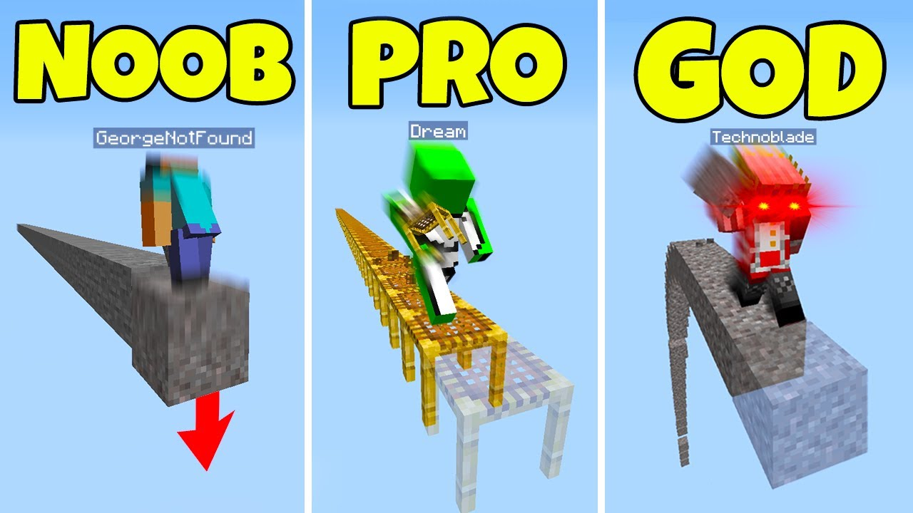 Minecraft NOOB vs PRO vs HACKER (Can You Spot Each One?) #1