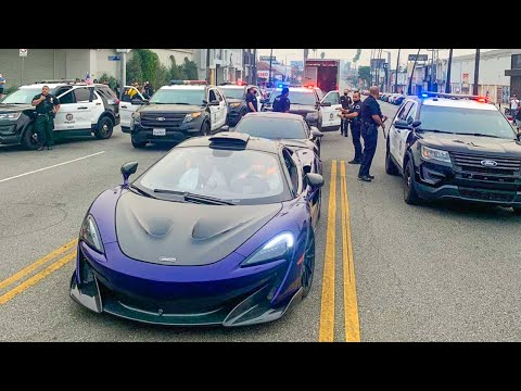 100 SUPERCARS TAKEOVER LOS ANGELES!! *Police Called*