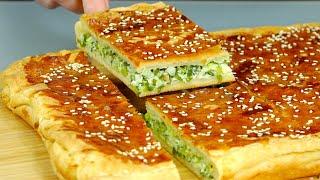 Потрясающе вкусный ПИРОГ с зеленым луком! Вы будете его готовить снова и снова!