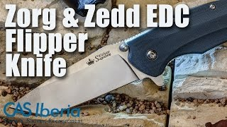 Kizlyar Supreme Zorg and Zedd Russian EDC Flippers - On the Bench