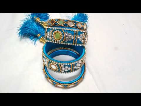 How To Make Beautiful Silk Thread Bangles At Home # DIY # Smart Art And Crafts # Designer Bangles #