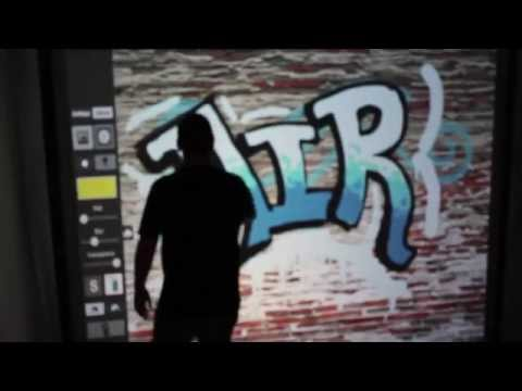 Air Graffiti Dallas Present Michale Lagocki - Virtual Graffiti Wall with Digital Spray Paint