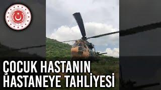 Kara Kuvvetlerimize Ait Helikopterin Bir Çocuk Hastayı Siirt Devlet Hastanesine Tahliyesi